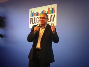 David Long presenting at Plug and Play